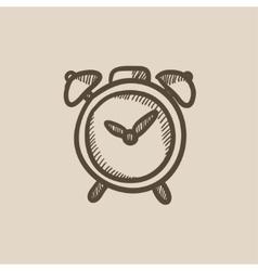 Alarm clock sketch icon vector image