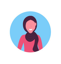 arab woman face avatar arabic girl wearing vector image