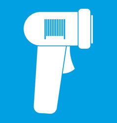 Barcode scanner icon white vector
