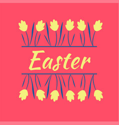 beautiful yellow spring flowers easter spring vector image