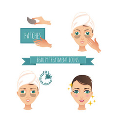 beauty treatment application of vector image
