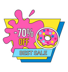best sale offer 70 percent discount isolated tag vector image