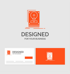 business logo template for install drive hdd save vector image