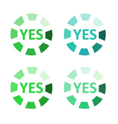 button for vote yes vector image