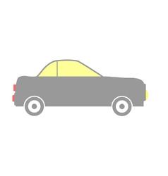 Car icon on white vector