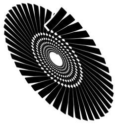 Circular geometric spiral volute element rotating vector