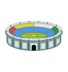 colorful cartoon sport stadium vector image