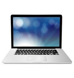 Computer notebook vector image