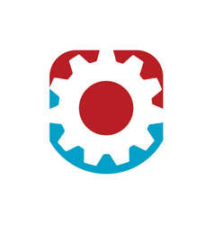 creative simple gear logo design gear and cogs vector image