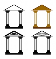 decorative arches vector image