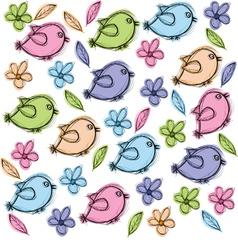 Doodle Birds vector