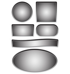 empty plates plaques vector image
