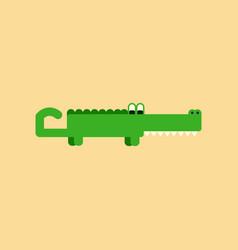 flat icon on background cartoon crocodile vector image