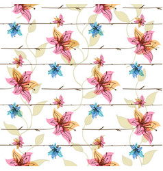floral seamless pattern with blooming vector image