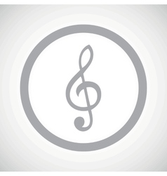 Grey treble clef sign icon vector