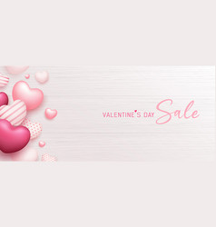 happy valentines day sale balloon colorful heart vector image
