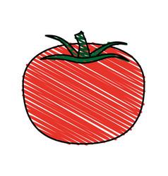 healthy fresh vegetable icon vector image