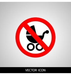 Icon no wheelchair vector image