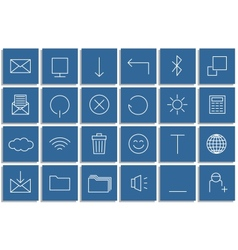 Icons set of the lines vector image