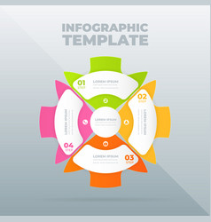 Infographic design template with options or steps vector