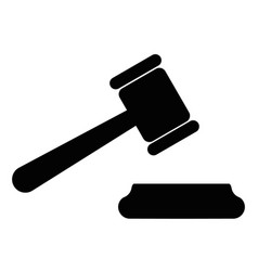judge gavel icon design template flat vector image