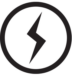 lightning bolt icon flash icon vector image