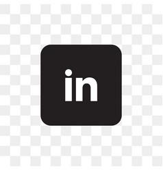 linkedin social media icon design template vector image
