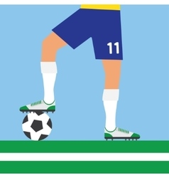 Man legs playing football vector