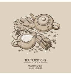 Masala tea vector