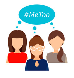 Me too womens movement against sexual assault and vector