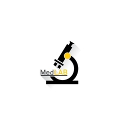 Microscope Medical laboratory Logo vector