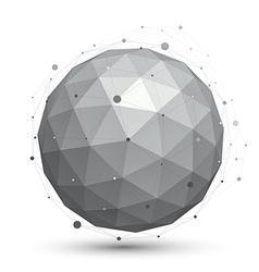 Modern digital technology ball abstract unusual vector