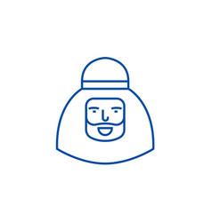 muslim man line icon concept muslim man flat vector image