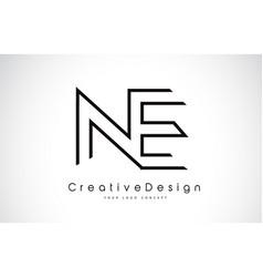 Ne n e letter logo design in black colors vector