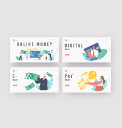 online payment electronic virtual transaction vector image