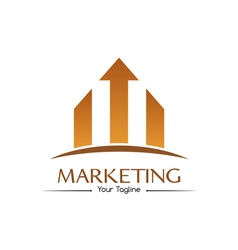 Orange marketing logo vector