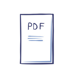 Pdf file document with publication icon vector