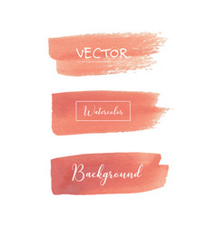 peach watercolor background vector image