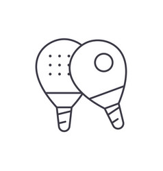 ping pong line icon concept ping pong vector image