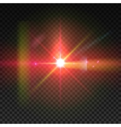 Realistic sun burst with flare Lens flare vector