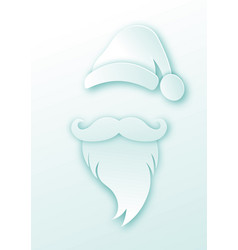 santa claus fashion sticker paper cutting style vector image