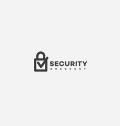 Security checkout logo vector