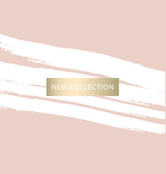 Set new collection fashion headers gold and vector