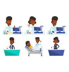 set of doctor and media characters vector image
