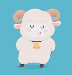 Sheep smiling vector