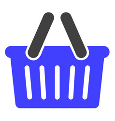 Shopping basket flat icon symbol vector