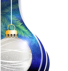 Silver ball Christmas tree decoration vector image