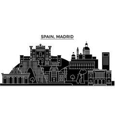 Spain madrid architecture city skyline vector