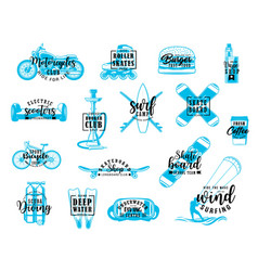 sport activities and recreation icons vector image