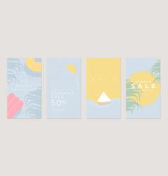 Summer sale flat stories template vector